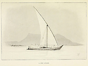 Sketch of A nile Gyassi from the book ' Pen and pencil sketches of shipping and craft all round the world ' by Pritchett, Robert Taylor Published in London in 1899