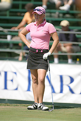 04 Sep 2005<br /> <br /> Amatuer Morgan Pressel waits her turn and finishes in the top 10.<br /> <br /> LPGA State Farm Classic.  The Rail Golf Course, Springfield (Sherman) Illinois