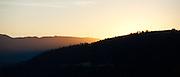 Sunrise over mountains, Donner, California