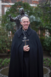 © licensed to London News Pictures. London, UK 16/03/2013. Archbishop of Canterbury the Most Rev Justin Welby conducts a journey from the City of London to Southwark with prayers on Saturday 16 March 2013. Photo credit: Tolga Akmen/LNP