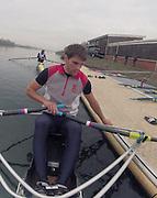 Caversham, Great Britain,   Graeme THOMAS .  November sculling Test and Pairs race.  Caversham Lake, GB Rowing,  Training Centre.  Thursday 17/11/2011 [Mandatory Credit. Peter Spurrier/Intersport Images]