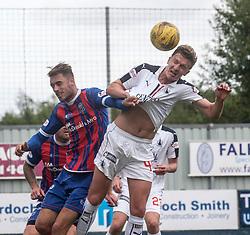 Falkirk's Aaron Muirhead. Falkirk 6 v 1 Elgin City, Irn-Bru Challenge Cup Third Round, played 3/9/2016 at The Falkirk Stadium .