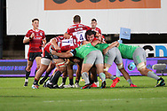 Gloucester's Franco Marais during the Gallagher Premiership Rugby match between Gloucester Rugby and Harlequins at the Kingsholm Stadium, Gloucester, United Kingdom on 14 September 2020.