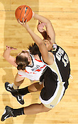 Feb. 3, 2011; Charlottesville, VA, USA; Wake Forest Demon Deacons guard Mykala Walker (13) grabs the rebound over Virginia Cavaliers guard Kelsey Wolfe (10) during the game at the John Paul Jones Arena. Virginia won 73-46. Mandatory Credit: Andrew Shurtleff