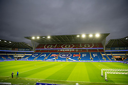 CARDIFF, WALES - Tuesday, November 17, 2020: A general view before a training session at the Cardiff City Stadium ahead of the UEFA Nations League Group Stage League B Group 4 match between Wales and Finland. (Pic by David Rawcliffe/Propaganda)