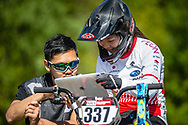 #337 (TANNO Kanami) JPN during practice of Round 3 at the 2018 UCI BMX Superscross World Cup in Papendal, The Netherlands