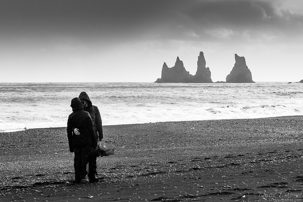 Romance in Vik's beach on a humid day.