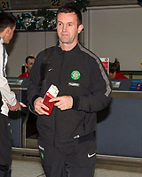 06/01/15 <br /> GLASGOW AIRPORT<br /> Celtic manager Ronny Deila checks in at Glasgow Airport ahead of flying to Gran Canaria
