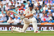 \Alastair Cook of England batting in his final test match innings during day 3 of the 5th test match of the International Test Match 2018 match between England and India at the Oval, London, United Kingdom on 9 September 2018.