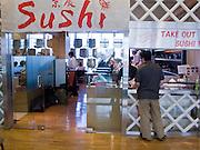 16 FEBRUARY 2008 -- NARITA INTERNATIONAL AIRPORT, JAPAN: People at the Sushi Bar in the international departure lounge at Narita International Airport. PHOTO BY JACK KURTZ