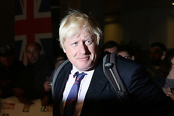 Boris Johnson, Pride of Britain Awards, Grosvenor House Hotel, London UK. 28 September, Photo by Richard Goldschmidt /LNP © London News Pictures