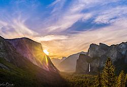 Yosemite at sunrise portrait