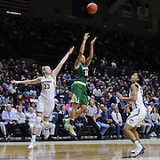 STORRS, CONNECTICUT- NOVEMBER 17: Alexis Prince #12 of the Baylor Bears shoots for three while defended by Katie Lou Samuelson #33 of the UConn Huskies and Gabby Williams #15 of the UConn Huskies during the UConn Huskies Vs Baylor Bears NCAA Women's Basketball game at Gampel Pavilion, on November 17th, 2016 in Storrs, Connecticut. (Photo by Tim Clayton/Corbis via Getty Images)