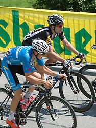 05.07.2015, Scheibbs, AUT, Österreich Radrundfahrt, 1. Etappe, Mörbisch nach Scheibbs, im Bild v.l. Gregor Mühlberger (AUT, Team Felbermayr Simplon), Gerald Ciolek (GER, MTN Qhubeka) // f.l.t.r. Gregor Mühlberger of Austria Gerald Ciolek of Germany during the Tour of Austria, 1st Stage, from Mörbisch to Scheibbs, Scheibbs, Austria on 2015/07/05. EXPA Pictures © 2015, PhotoCredit: EXPA/ Reinhard Eisenbauer
