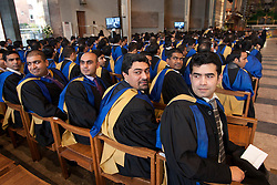 © under licence to London News Pictures 24/11/2010 Students at Coventry University were holding their graduation ceremony at Coventry Cathedral instead of taking part in the National Day of Protest. Picture shows MBA students waiting for the graduation ceremony to start inside Coventry Cathedral..Picture credit: Dave Warren/London News Pictures...