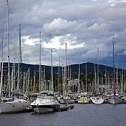 Oslo is the city of boats! Boats can be found in every little waterway nook and cranny. Here, they are in the harbor of Bygdoy, a peninsula in Oslo.