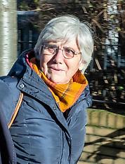 Clara Ponsati on way to hand herself into police, Edinburgh, 14 November 2019