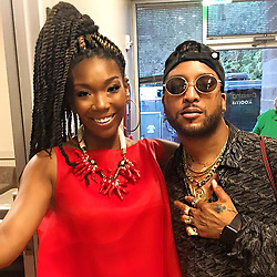 """Brandy Norwood releases a photo on Instagram with the following caption: """"Ro Ro Ro James!!! Nice seeing you last night! I am so blessed to be around amazing artist who truly appreciate each other. @rojamesxix see you soon\u2604\ufe0f"""". Photo Credit: Instagram *** No USA Distribution *** For Editorial Use Only *** Not to be Published in Books or Photo Books ***  Please note: Fees charged by the agency are for the agency's services only, and do not, nor are they intended to, convey to the user any ownership of Copyright or License in the material. The agency does not claim any ownership including but not limited to Copyright or License in the attached material. By publishing this material you expressly agree to indemnify and to hold the agency and its directors, shareholders and employees harmless from any loss, claims, damages, demands, expenses (including legal fees), or any causes of action or allegation against the agency arising out of or connected in any way with publication of the material."""