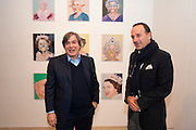 GEORGE CONDO; SIMON LEE, George Condo: Mental States. Hayward Gallery. Southbank Rd. London. 17 October 2011. <br /> <br />  , -DO NOT ARCHIVE-© Copyright Photograph by Dafydd Jones. 248 Clapham Rd. London SW9 0PZ. Tel 0207 820 0771. www.dafjones.com.