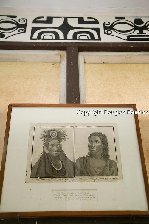 Drawing , Community Museum of Ua Huka, Marquesas Islands, French Polynesia<br />