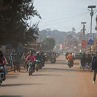 Motorbikes are the main means of motorised transportation in Butembo, Congo