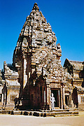 Entrance to Phanom Rung Cambodian/Khmer stone temple near Burriram Thailand <br /> <br /> Editions:- Open Edition Print / Stock Image