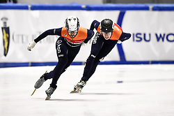 February 9, 2019 - Torino, Italia - Foto LaPresse/Nicolò Campo .9/02/2019 Torino (Italia) .Sport.ISU World Cup Short Track Torino - Men 1500 meters Final B .Nella foto: Itzhak de Laat, Friso Emons..Photo LaPresse/Nicolò Campo .February 9, 2019 Turin (Italy) .Sport.ISU World Cup Short Track Turin - Men 1500 meters Final B.In the picture: Itzhak de Laat, Friso Emons (Credit Image: © Nicolò Campo/Lapresse via ZUMA Press)