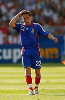 Photo: Glyn Thomas.<br />France v Switzerland. Group G, FIFA World Cup 2006. 13/06/2006.<br /> France's Frank Ribery looks dejected.