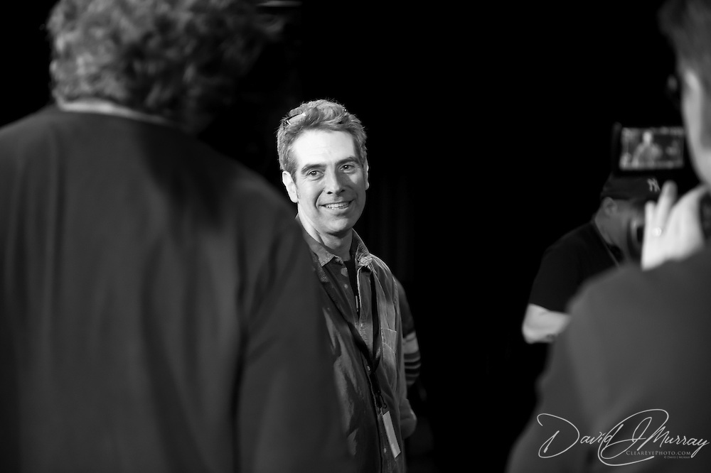 PRI Senior Producer Marco Werman backstage after the  Sharon Jones & The Dap-Kings concert at The Music Hall, Portsmouth, NH