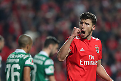 February 6, 2019 - Lisbon, Portugal - Benfica's Portuguese defender Ruben Dias celebrates the victory in the Portugal Cup Semifinal first leg football match SL Benfica vs Sporting CP at Luz stadium in Lisbon, on February 6, 2019. (Credit Image: © Pedro Fiuza/ZUMA Wire)
