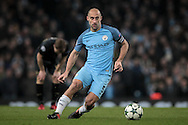 Pablo Zabaleta (Manchester City) during the Champions League match between Manchester City and Celtic at the Etihad Stadium, Manchester, England on 6 December 2016. Photo by Mark P Doherty.