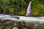 Eureka Falls and Silverhope Creek in the Skagit Valley near Hope, British Columbia, Canada