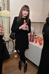 KOO DONNELLY at a Valentine's charity event to raise heart awareness and support the charity Arrhythmia Alliance held at Sophie Gass, 4 Ladbroke Grove, London on 13th February 2014.
