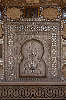 architecture detail of Amber Fort in jaipur in rajasthan state in india