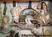 Display with wax face mannequins left, Merritt's Museum of Childhood, Douglassville, Berks Co., PA