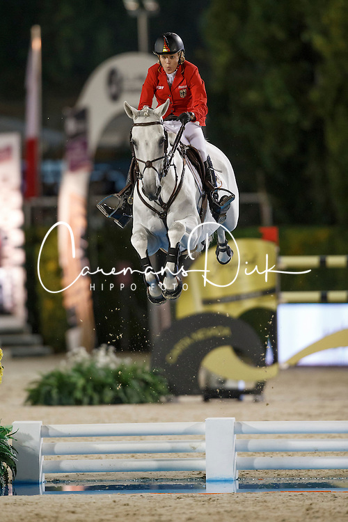 Michaels-Beerbaum Meredith, (GER), Fibonacci 17<br /> Final<br /> Furusiyya FEI Nations Cup Jumping Final - Barcelona 2015<br /> © Dirk Caremans<br /> 26/09/15