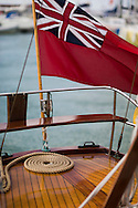 Yacht details at the Panerai British Classic Week sailing regatta off Cowes, Isle of Wight. <br /> Picture date Monday 14th July, 2014.<br /> Photograph by Christopher Ison ©<br /> 07544044177<br /> chris@christopherison.com<br /> www.christopherison.com