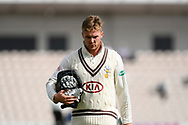 Wicket - Jason Roy of Surrey walks back to the pavilion after being dismissed by Kyle Abbott of Hampshire during the Specsavers County Champ Div 1 match between Hampshire County Cricket Club and Surrey County Cricket Club at the Ageas Bowl, Southampton, United Kingdom on 6 September 2017. Photo by Graham Hunt.