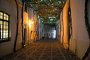 Historic cobbled street Calle Ciegos in Gonzalez Byass bodega, Jerez de la Frontera, Spain