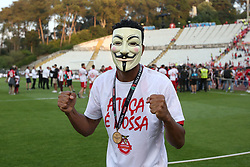 May 20, 2018 - Lisbon, Portugal - Aves' forward Amilton Silva celebrates after winning the Portugal Cup Final football match CD Aves vs Sporting CP at the Jamor stadium in Oeiras, outskirts of Lisbon, on May 20, 2015. (Aves won 2-1) (Credit Image: © Pedro Fiuza/NurPhoto via ZUMA Press)