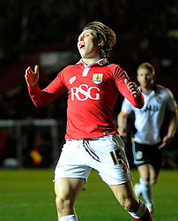 Bristol City's Luke Freeman reacts after going close  - Photo mandatory by-line: Joe Meredith/JMP - Mobile: 07966 386802 - 10/02/2015 - SPORT - Football - Bristol - Ashton Gate - Bristol City v Port Vale - Sky Bet League One