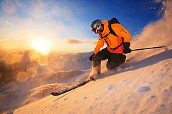 Skiing in Hemsedal, Norway