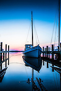 Old Point Docked at sunrise at the St Michael dock, St Michael Maryland