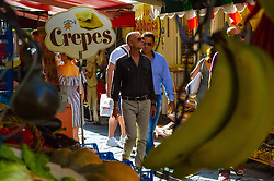 Sorrento, Italy, September 16 2017. Tourists and shoppers on Via Cesareo in Sorrento, Italy. © Paul Davey