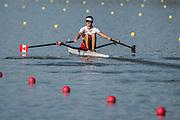 Plovdiv BULGARIA. 2017 FISA. Rowing World U23 Championships. <br /> CAN BM1X. Trevor JONES.<br /> Wednesday. PM,  Heats 18:10:19  Wednesday  19.07.17   <br /> <br /> [Mandatory Credit. Peter SPURRIER/Intersport Images].
