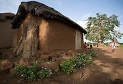 View of a house in the village of Ying, northern Ghana, on Monday June 4, 2007..