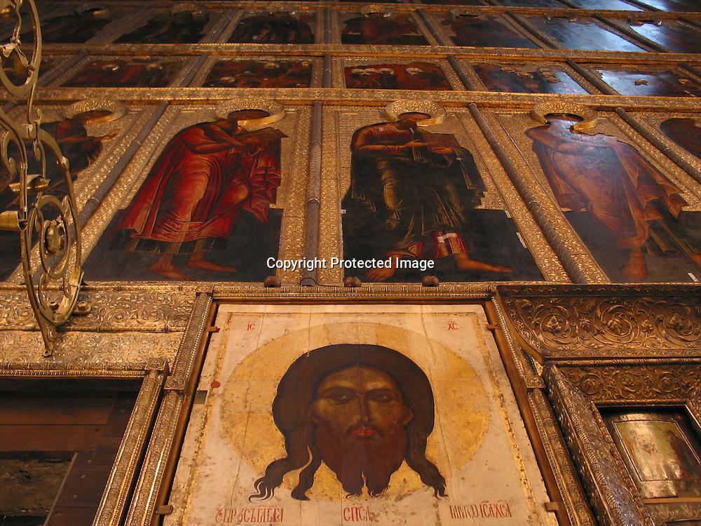 wall painting at russian church
