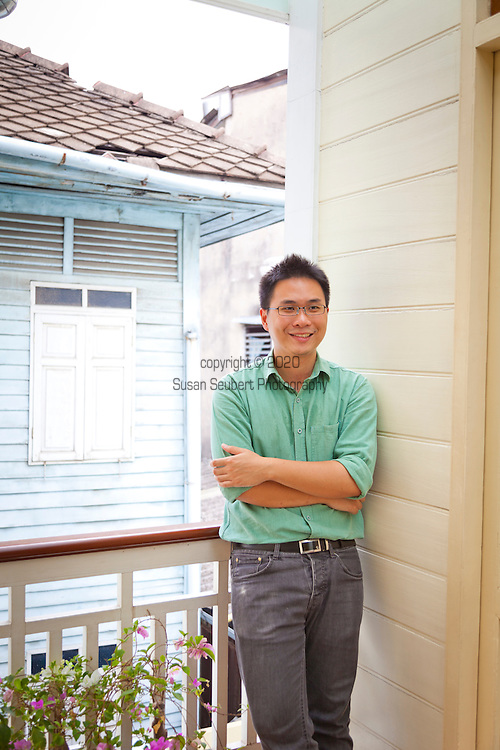 Bann Dinso Guesthouse in Old Bangkok, Thailand.  Proprietor Nidhi Akkaravivat