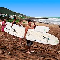 Surfing in Jinshan, Taiwan