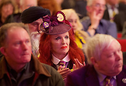 UKIP 2015 Spring Conference at the Winter Gardens Margate, Great Britain <br /> 28th February 2015 <br /> <br /> Nigel Farage MEP<br /> Leader of UKIP<br /> <br /> Kellie Maloney <br /> formerly Frank Maloney <br /> <br /> <br /> <br /> Photograph by Elliott Franks <br /> Image licensed to Elliott Franks Photography Services